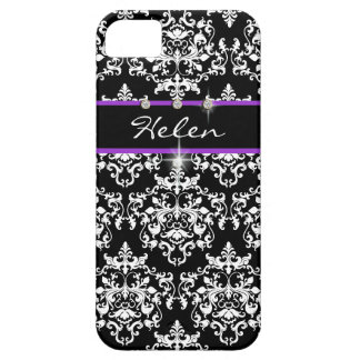 Purple black girls name modern barely there iPhone 5 case