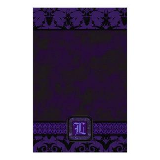 Purple & Black Goth Lace Wedding Custom Stationery