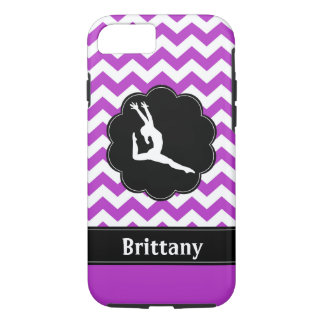 Purple Black Gymnastics Cell Phone Case