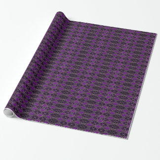 Purple & Black Jewel Tone Wrapping Paper, Classy Wrapping Paper