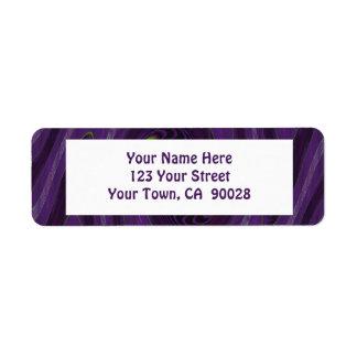 purple black return address label