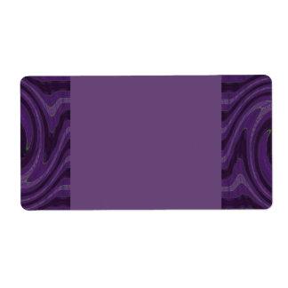 purple black shipping label