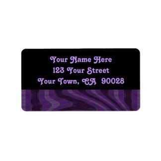 purple black address label