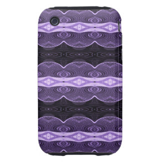Purple black lace abstract iPhone 3 tough cover