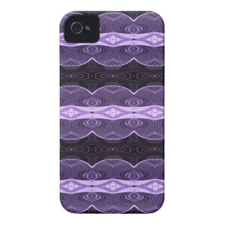 Purple black lace abstract iPhone 4 Case-Mate case