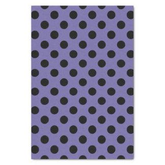 Purple & Black Large Polka Dot Tissue Paper
