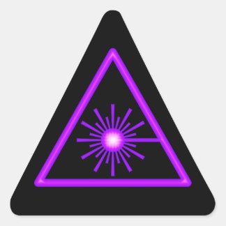 Purple & Black Laser Symbol Sticker