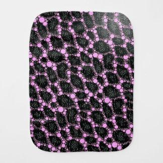 Purple Black Leopard Puzzle Burp Cloths