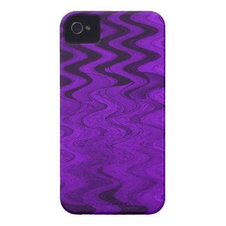 Purple black pattern iPhone 4 cover