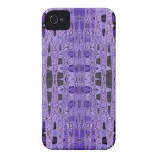 purple black patttern iPhone 4 cover