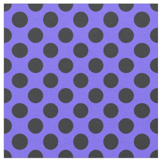 Purple & Black Polka Dot Fabric