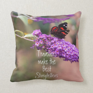 Purple | Black| Red Butterfly Photo Cushion