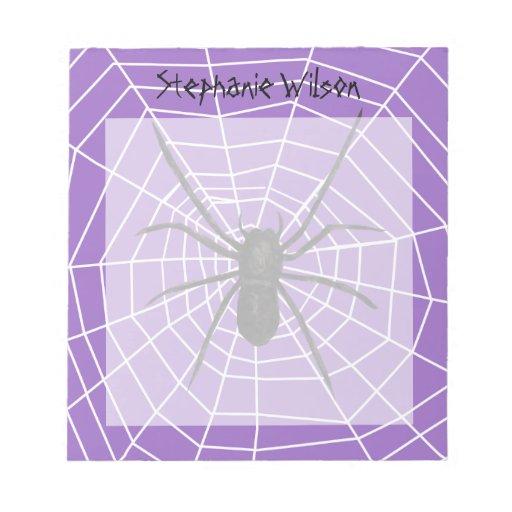 Purple/Black Spider Halloween Memo Notepad