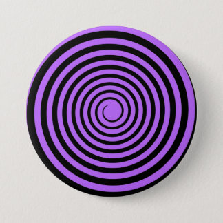 Purple & Black Spiral Customized Template 7.5 Cm Round Badge