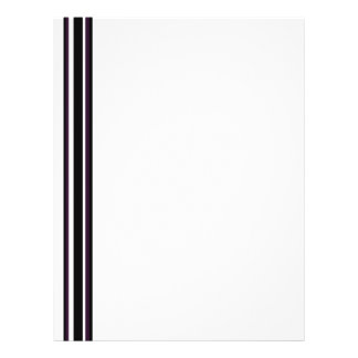 purple black stripes 21.5 cm x 28 cm flyer