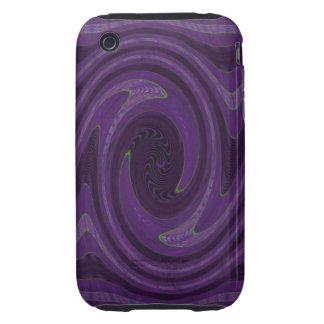 purple black swirl tough iPhone 3 cases