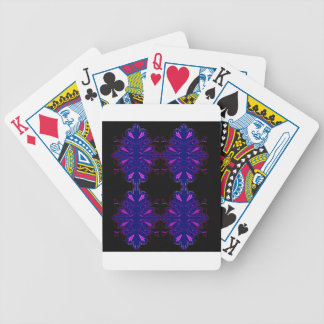Purple black vintage ornaments bicycle playing cards