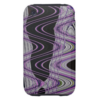purple black wild abstract art tough iPhone 3 covers
