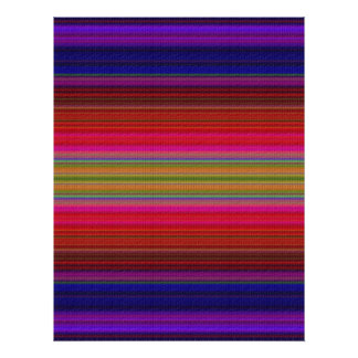 Purple Blanket Texture Poster