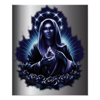 Purple Blessed Virgin Mary Print