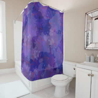 Purple Blizzard Shower Curtain