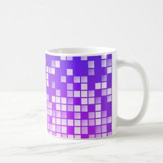 Purple Blocks Basic White Mug