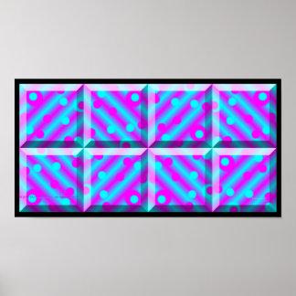 Purple blocks print