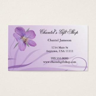 Purple Bloom Business Card