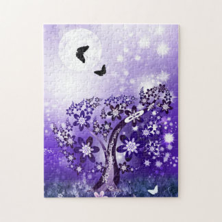 Purple Blooming Tree Puzzle