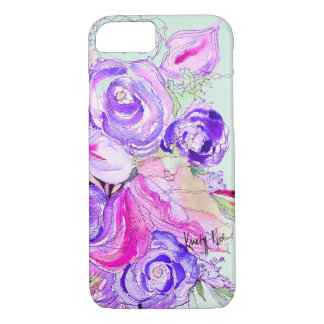 Purple Blooms iPhone 8/7 Case