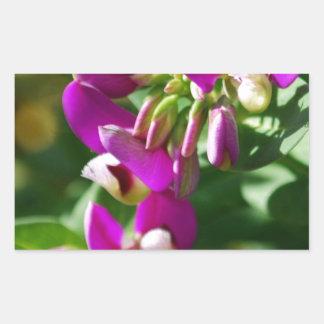 Purple Blooms Rectangular Sticker