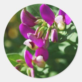 Purple Blooms Round Sticker