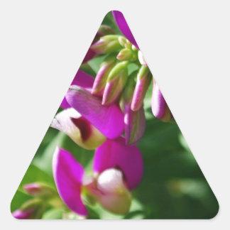 Purple Blooms Triangle Sticker
