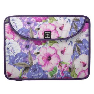 Purple Blossom Sleeve For MacBook Pro
