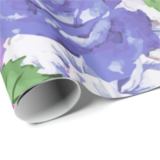 Purple Blossom Wrapping Paper