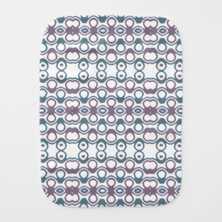 Purple & Blue Abstract Bubble Design Pattern Burp Cloth