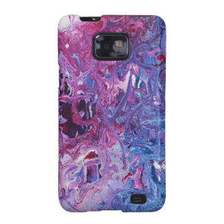 Purple Blue Abstract Design Products Samsung Galaxy SII Case