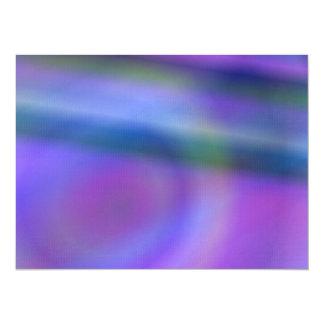 Purple blue abstract 14 cm x 19 cm invitation card