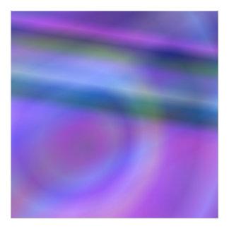 Purple blue abstract photo print