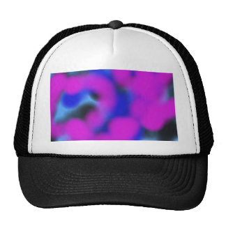 purple blue and black mixing together abstract art trucker hat