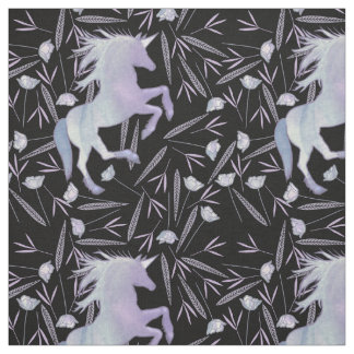 Purple Blue and Pink Unicorn Pattern Fabric