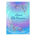 Purple blue birthday engagement wedding card