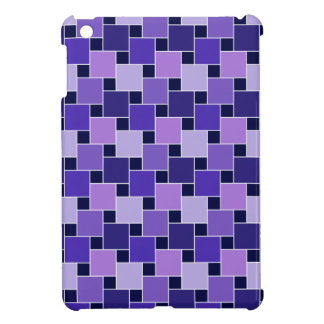 Purple Blue & Black Abstract Squares Case For The iPad Mini