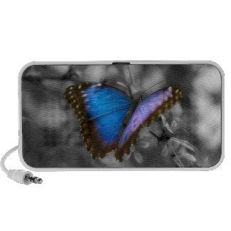 Purple Blue Butterfly Laptop Speakers