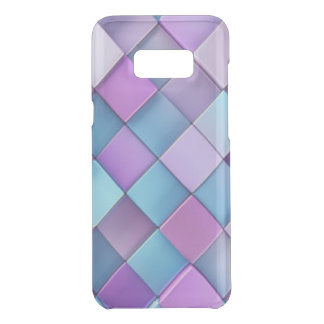 Purple Blue Checker Board Pattern Print Design Uncommon Samsung Galaxy S8 Plus Case