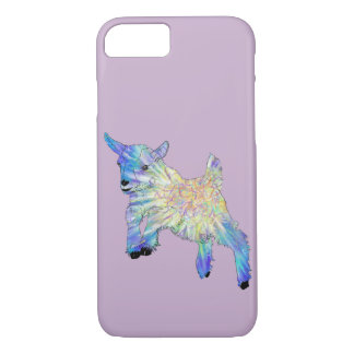 Purple Blue Cute Baby Goat Funny Animal Art Design iPhone 8/7 Case