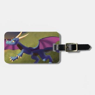 Purple/Blue Dragon 11/14/15 Luggage Tag