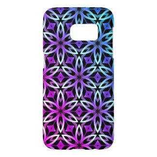 Purple blue geometric