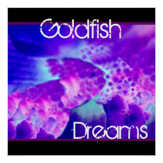Purple & Blue Goldfish Dreams Wall Decor