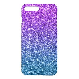 Purple Blue Gradient Faux Glitter Texture iPhone 8 Plus/7 Plus Case